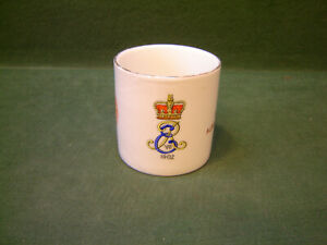 1902 Edward VII Lithophane Portrait Base Coronation Mug Batley Crest J W Turner
