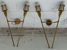 French Mid-Century Sconces by Maison Lunel