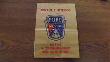 1957 Ford dealer dash board hanging trash bags