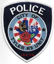 "City of Tyler  K-9 Unit, Texas  (4"" x 4.75"" size)  shoulder police patch (fire)"