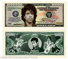 PRINCE - MEMORABILIA :$1 Million Collectors Art Banknote/Bill - Signed