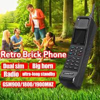 Classic Vintage Retro outdoor GSM 900/1800 Big Brick Phone Dual SIM Mobile Phone