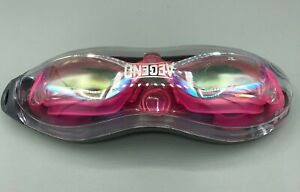 Aegend Swim Goggles with Case for Adult, Mirrored, Pink