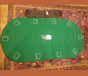 "Vegas Classics Roll Up Green Felt Topped, Rubberized Poker Mat ~ 72"" x 36"""