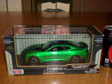 2017 Camaro Zl1 Metallic Green, Motor Max Toy Car, Die Cast Factory Built, 1:24