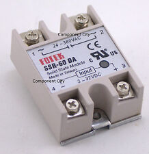 SSR-60DA with Cover input 3-32VDC Output 24-380VAC 60A Ships from USA