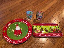 Target Holiday Melamine Cookies for Santa Carrots Reindeer Cups Christmas Plates