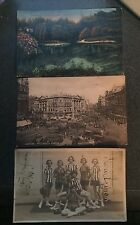 LOT OF NINE 1923 EUROPE POSTCARDS MAILED FROM GERMANY, ENGLAND PARIS ITALY