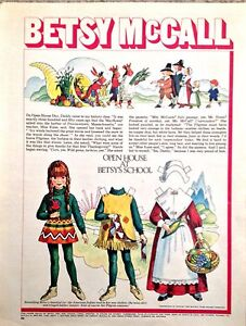 Vintage Betsy McCall Mag. Paper Doll, Open House at Betsy's School , Nov.1970