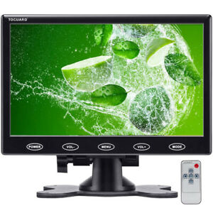 TOGUARD Portable Monitor 7 inch LCD Display Screen with AV VGA HDMI Input for PC