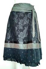 WHISTLES evening skirt size 8 --BRAND NEW-- Silk blend knee length stars floral