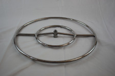 "24"" Stainless Steel Round Double Fire Pit SS Burner Ring (Pack of 10)"