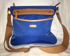ELLINGTON Blue/Tan MIA Crossbody Purse Bag-MINT