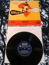 "HUGH TRACEY - MUSIC OF AFRICA SERIES NO.3 DRUMS OF EAST AFRICA 10"" LP RARE DECCA"
