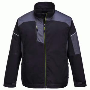 Portwest T603 PW3 Work Jacket - Black/Zoom Grey
