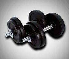 New 50 Lbs Adjustable Cast Iron Weight 25Lbs X 2PCS Dumbbells Kit Dumbbell Plate