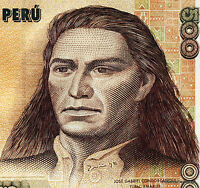 PEROU billet neuf  500 INTIS Pick134b  bel INCA CONDORCANQUI TUPAC AMARU II 1987