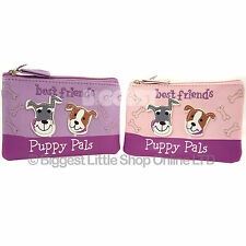 New Girls Teenagers Cute Puppy Pals Purse Lilac or Pink