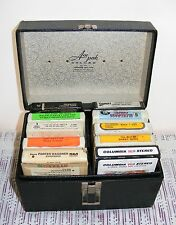 Vintage Collectible 8-Track Tape Collection In Carrying Case, See All Pics