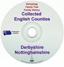 Genealogy England Derbyshire Nottinghamshire books DVD