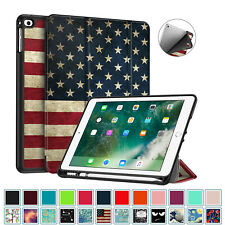 For iPad 9.7 inch 6th 5th Generation Slim Case Cover with Apple Pencil Holder