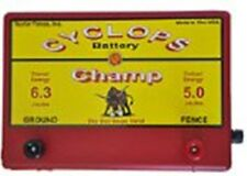 CYCLOPS CHAMP BATTERY POWERED   5 JOULE, 12VOLT ELECTRIC FENCE CHARGER ENERGIZER