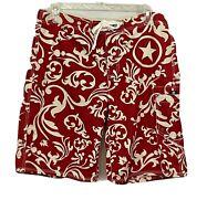 Mens Converse Swim Trunks Board Shirts Size 38 Red White EUC