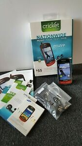 Samsung R720  RED Cellular phone Cricket paygo Muve Music Android