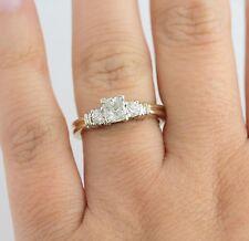 14K Two Tone .98 CTW Diamond PPF Engagement Ring Anniversary 1 CT w/ App $2875