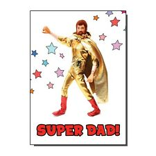 Super Dad Bearded Super Hero Action Man Toy Figure Birthday Card