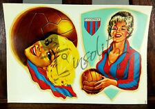 Calcio CATANIA  Decalcomania d' epoca originale - decalcoplastica -