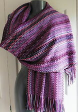 WOMENS  SCARF  pashmina MISSONI  PINKS LONG MADE ITALY ZIGZAG SIGNATURE NEW TAGS