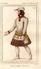 COSTUME DE LA FRANCE XVe siècle / Jean de Grailli, Comte de Foix