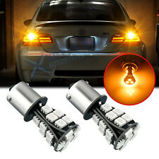 LED Turn Signal Light Bulbs Rear BAU15S 7507 Amber for Honda Civic Coupe 2016-19