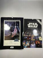 Lot Of 2 Star Wars 2006 & 2011 Poster Calendar. The Complete Saga. By Lucasfilm