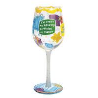 LOLITA Love My Wine Happy March 15oz Glass*BNIB*Love My Birthday Month***