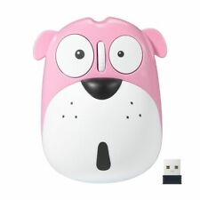 Cute Dog Rechargeable Wireless Mouse 1200 DPI Noiseless for Kids Computer Laptop