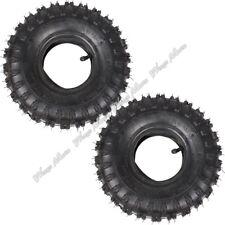 4.10/3.50-4 Tyre Tire+ Inner Tube for Garden Rototiller Snow Kid ATV Pack of 2