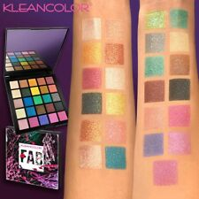 Kleancolor FAB 25 Color Eyeshadow Palette Glitter Iced Foiled Shades Bright