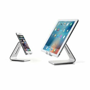Bramley Power Aluminium Desktop Stand for iPhone iPad Android