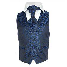 Page Boy Wedding Waistcoat Cravat Set in Blue Purple Ivory Red Boys Suit
