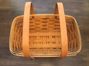 Longaberger Medium Gathering Basket with double Swing Handles 2000