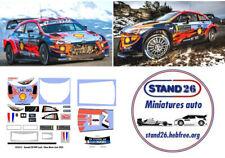Decals Hyundai i20 WRC Loeb / Elena rallye de Monte Carlo 2020 1/43e