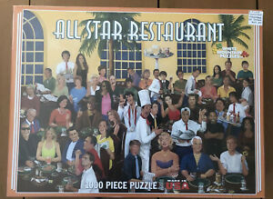 All Star Restaurant White Mountain Puzzle 1000 Pieces 2009 NEW/Sealed! Rare!