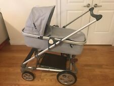 Seed Pli MG Stroller, Silver and Brand New Carry Cot Set in Black