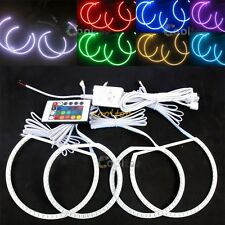 LED Multi-Color Remote RGB 5050 SMD ANGEL EYES HALO RING kit For BMW X5 E53
