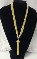Vtg Sarah Coventry Long Dangle Tassel Bell Fashion Pendant Necklace Earrings Set