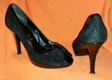 OFFICE 100% Leather Patternless Peep Toe Heels for Women