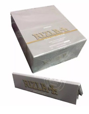 Full Box of 50 Booklets Silver Rizla Kingsize Slim Rolling Cigarette Papers