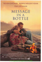 MESSAGE IN A BOTTLE MOVIE POSTER  Original Video One Sheet 27x40 KEVIN COSTNER